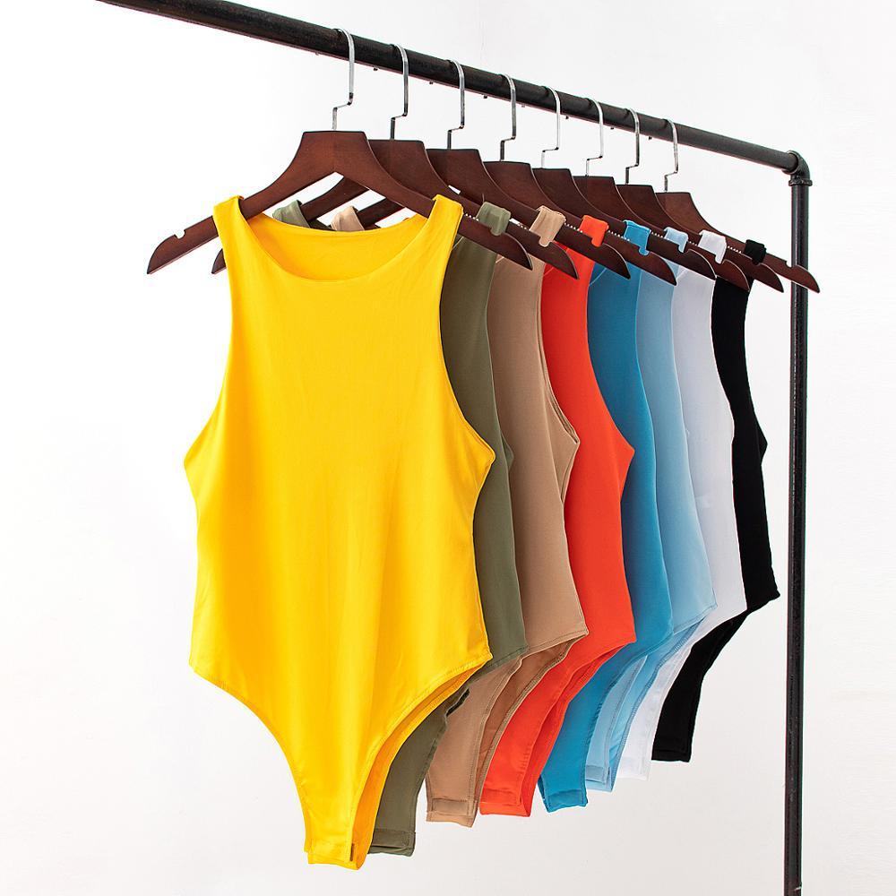2020 New summer autumn Jumper body Women casual Sexy Slim beach Jumpsuit Romper girl Bodysuit solid brand suit