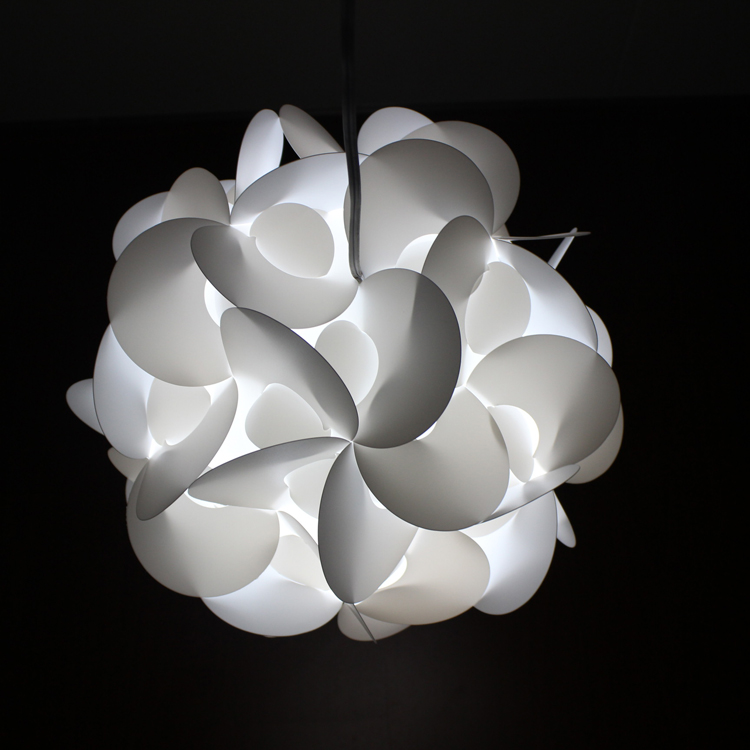 solid color puzzle pvc lamp lampshade diy