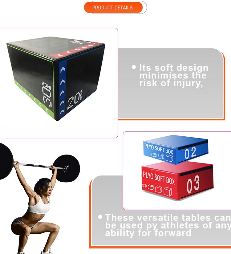 Spor salonu ekipmanları çapraz spor poli kutusu yumuşak katlamalı kutu güvenli Plyo kutusu