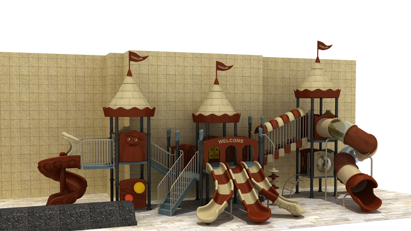 YL-L174 China Theme Novelty Design Amusement Park Equipment Special Plastic Outdoor Playground Slides For Kids Plastic