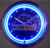 BSCI factory led wall hanging neon clock for home decoration