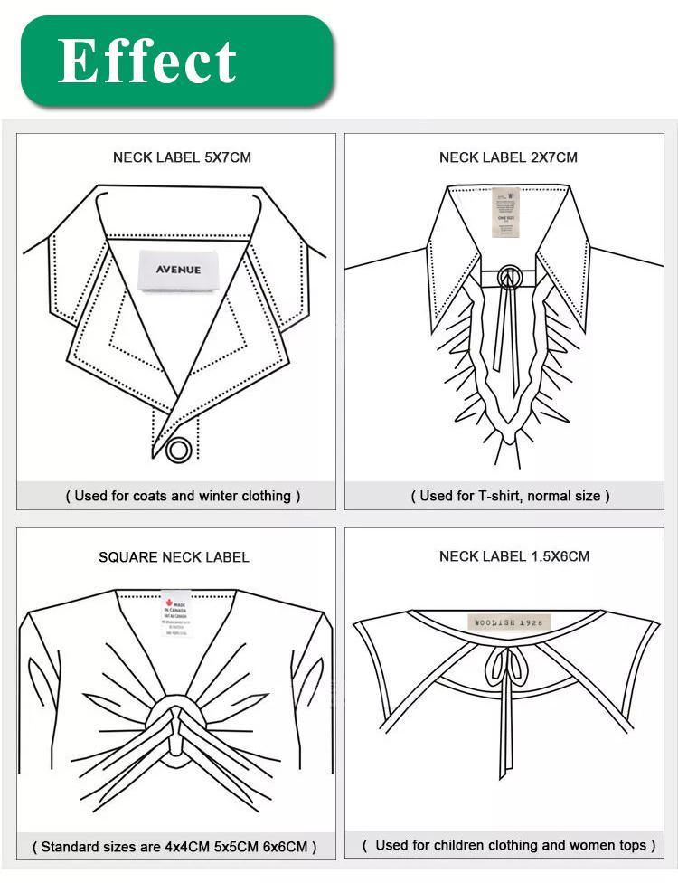 Lüks özelleştirilmiş kadın elbise/kot pantolon/gömlek dokuma kıyafet etiketi etiketleri Logo
