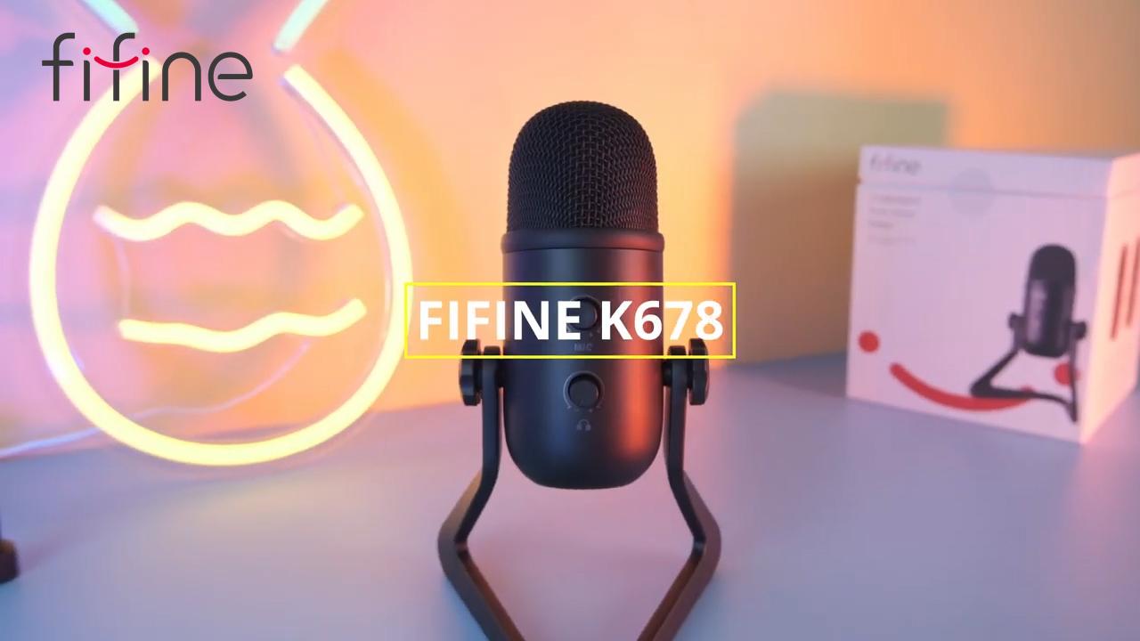 Fifine K678 jogos podcast condensador usb microfone condensador