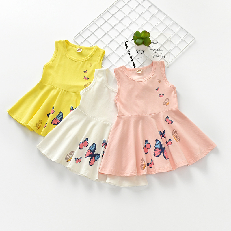 Latest Design <strong>Fashion</strong> Summer Butterfly Dress <strong>Kids</strong> Girl For Party Dresses Children Girls