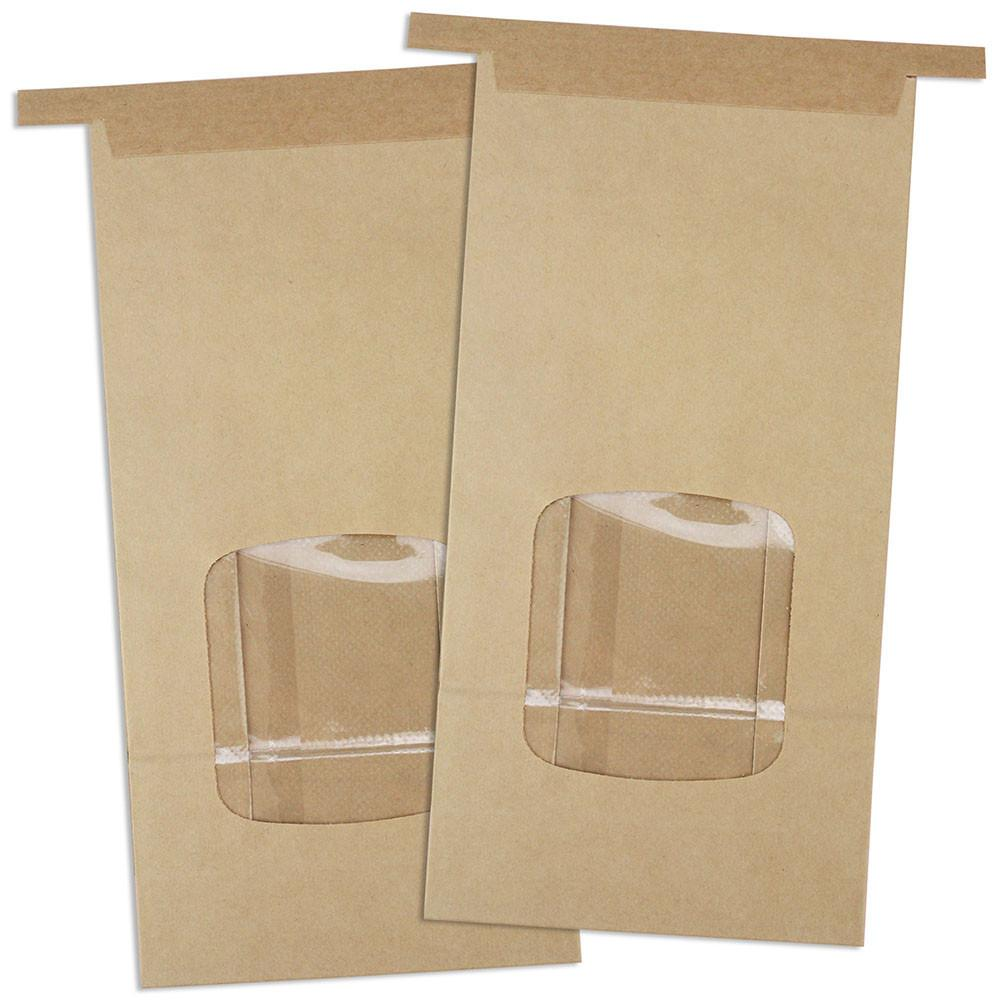 Eco Friendly Side Gusset flat bottom Kraft Paper Tin Tie Coffee Bags For Food Packaging