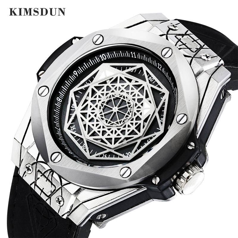 Men Fashion Leather Automatic Watch Reloj Hombre Business Mechanical Watches Male Waterproof Sport Clock KIMSDUN Wristwatches