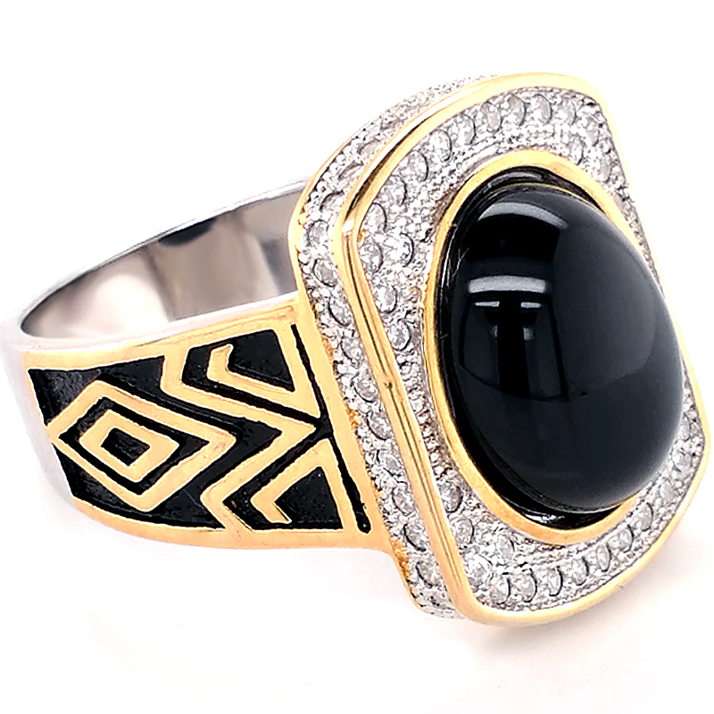 Metal Signet rings men Rhodium Plated and Gold Plated Custom Words engraved plating color true men's ring