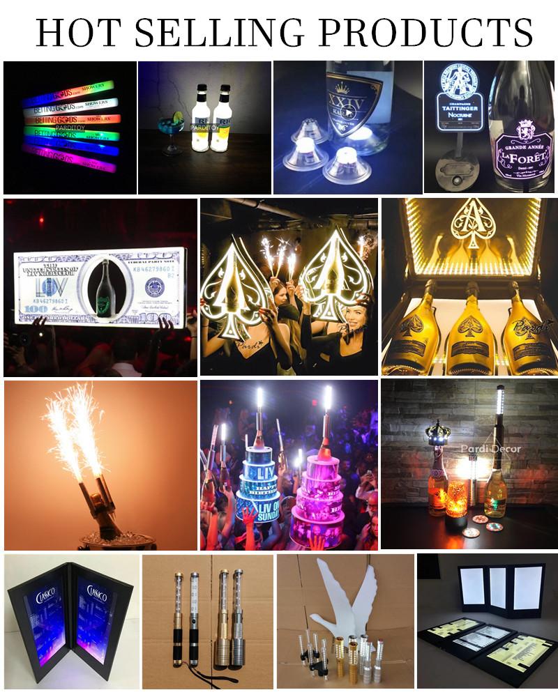 LED bottle light sticker for bottle LED sticker glorifier coaster