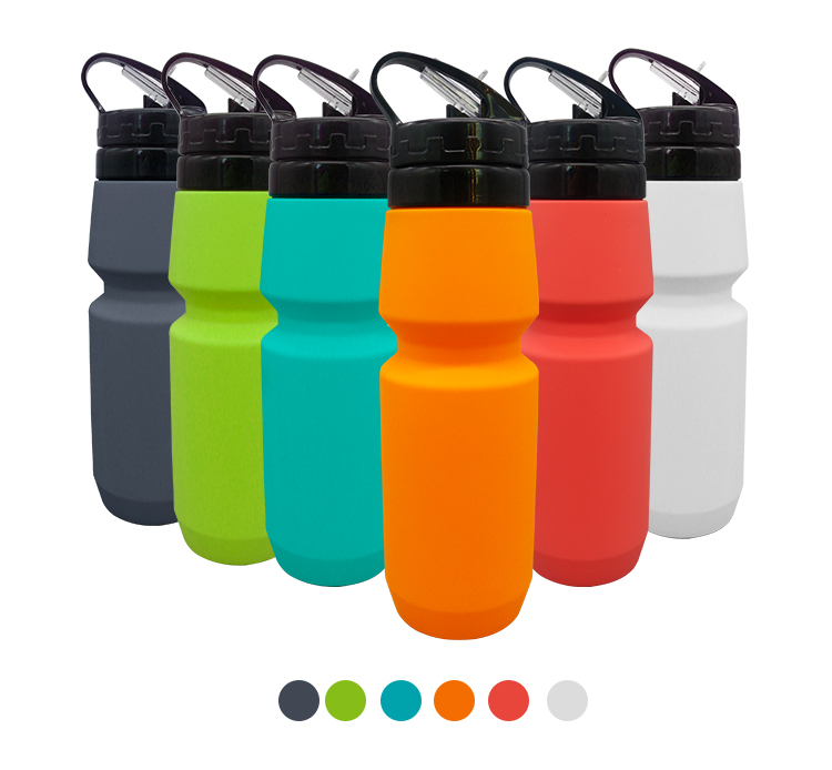 BPA Free Folding Silicone Drinking Canteen Leak Proof Sport Water Bottles Flexible Good Silicone Travel Bottle