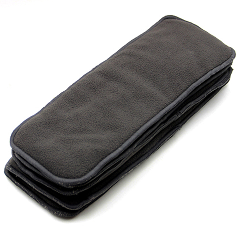 Washable Bamboo Charcoal Diaper 5 Layers Insert Cloth Diaper Insert