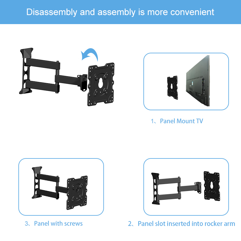 "VESA 75*75 100*100 100*200 200*200 swivel tilting tv wall mount bracket for 17""-42"" LCD LED TV"