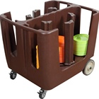 PE Multiple Adjustable Plate Caddy / Dish Caddy / Tableware Trolley
