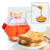 Wholesaler 8 Ounce Clear Honey Pot Glass Honey Jar with Wooden Dipper and Cork Lid Cover