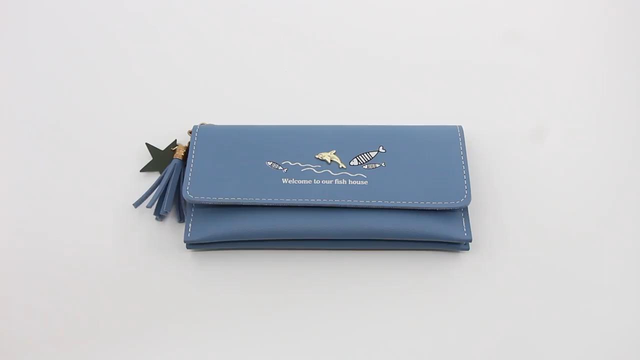 Las nuevas mujeres de cuero de la Pu billeteras de mujer largo carteras bolsas de dinero bolsillo señoras alta calidad cartera titular de la tarjeta