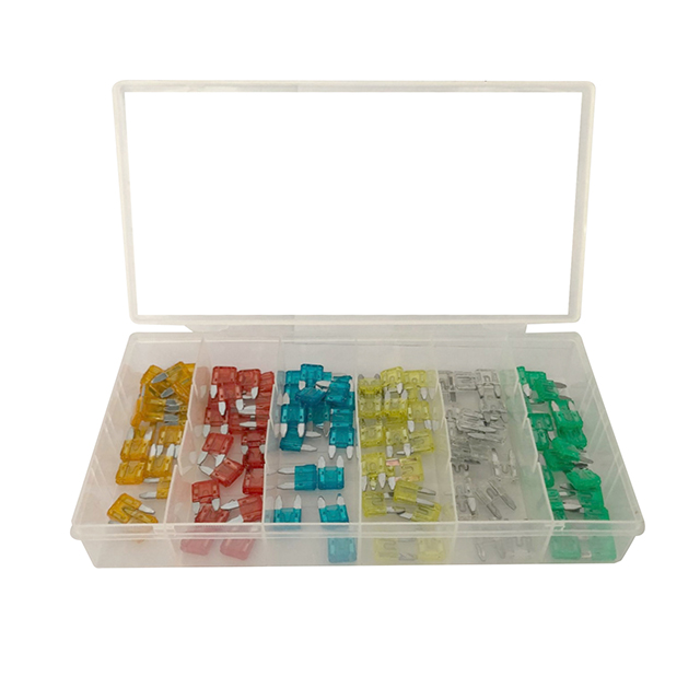 china professional supply 120 Piece Car Truck Fuse Assortment 5,7.5,10,15,20,25,30 AMP