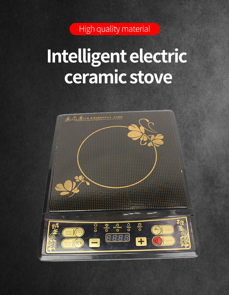 China Manufacturer Black Crystal Glass Indection Cooker Induction With LED Display