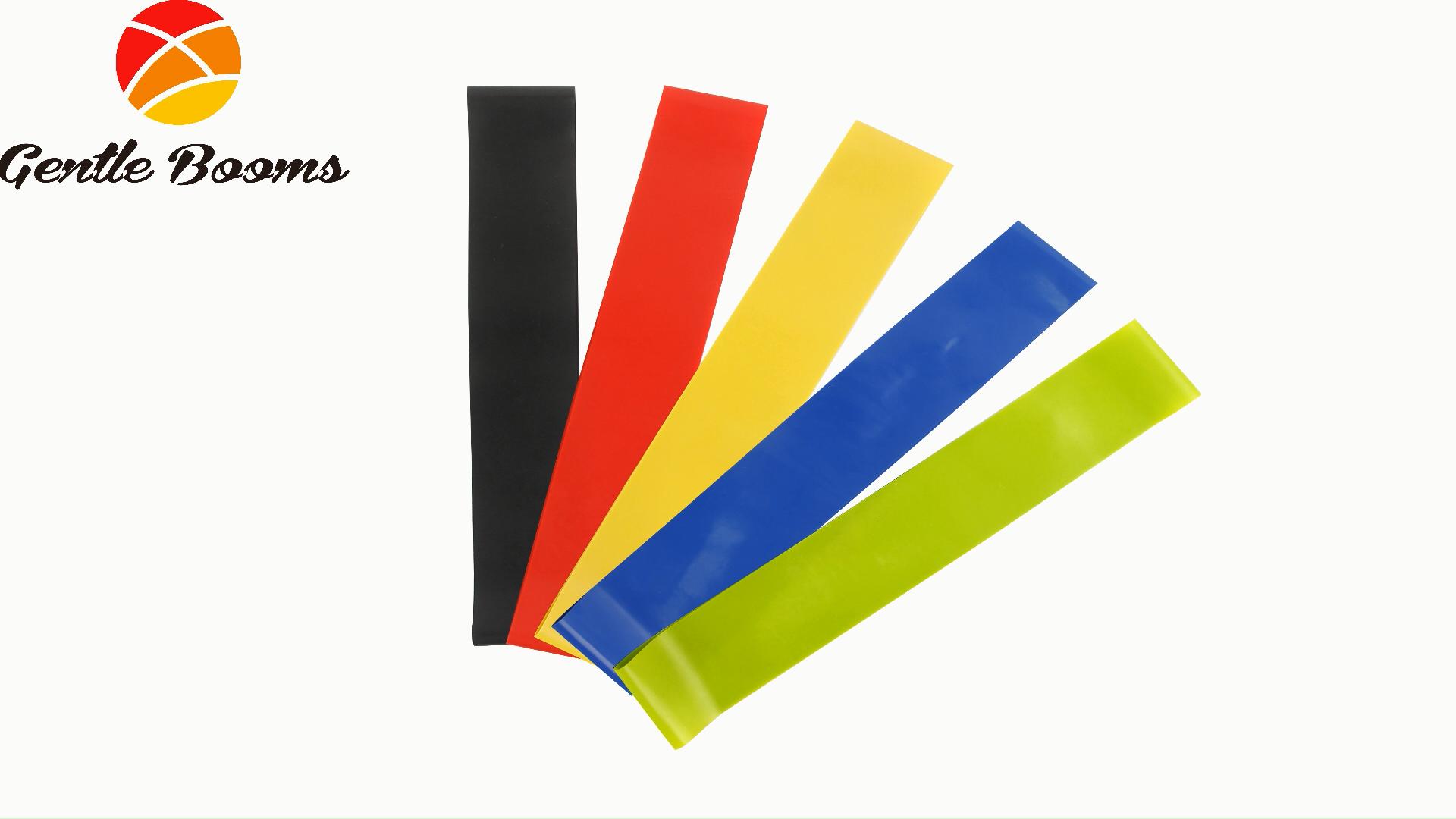 Kleur Kleine Gedrukt Nylon Been Resistance Band Kit Custom Polyester Sport Print Band Gewichtheffen Exerciser Premium Apparatuur