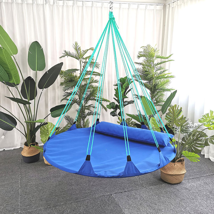 Outdoor & Indoor Folding Metal Round Swing Hammock Hanging Chair
