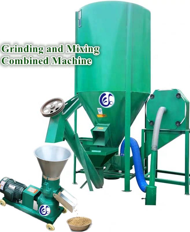 آلة خلط أعلاف عمودية منزلية 500 كجم. 1000 كجم خلاط طاحونة ماكينة التغذية للاستخدام الزراعي