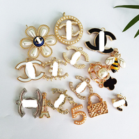 designer letter channel charms for diy bracelets jewelry making