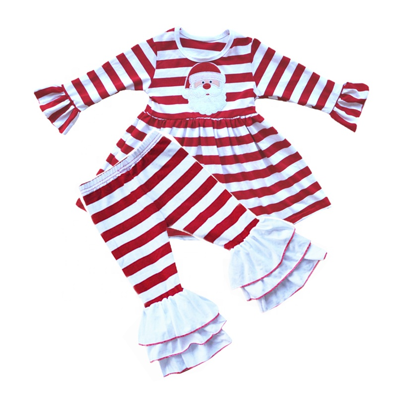 US My First Christmas Toddler Baby Girl Clothes Darlin T-shirt Flared Pants Set