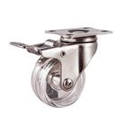 Light duty 1.25inch stainless steel swivel caster wheel