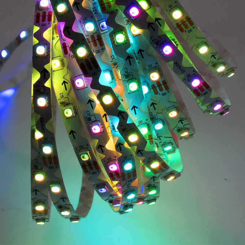 S-type 3838 12V RGB ws2812 60d addressable arc installation circular ceiling bendable LED strip