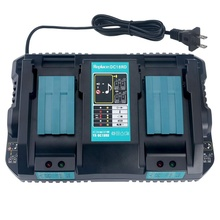 Remplacement <span class=keywords><strong>Makita</strong></span> 14.4V 18V DC18RD <span class=keywords><strong>Chargeur</strong></span> DC18RC DC18RA DC18SF Compatible avec <span class=keywords><strong>Makita</strong></span> 14.4V 18V LXT Batterie