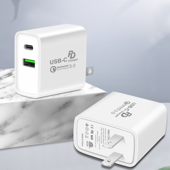 Unionup Dual usb Quick charger 3.0 fast pd charger,for iphone11/ipad/8 huawei p30 dual usb wall charger