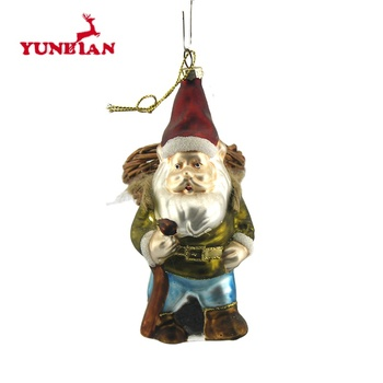 Vintage antique christmas tree hanging glass santa claus ornaments decorations