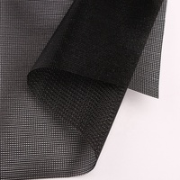 500*500D/18*18/220GSM PVC Coated Polyester Mesh Black Coated Mesh Fabric PVC Mesh