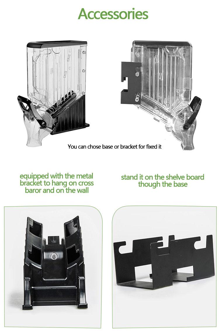 Ecobox rifornimento della fabbrica di plastica PC trasparente alimenti sfusi dispenser gravità bin per il supermercato