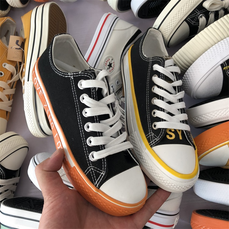 Bulk Wholesale used shoes canvas shoes mixed type second hand for women Shoes stock W71410
