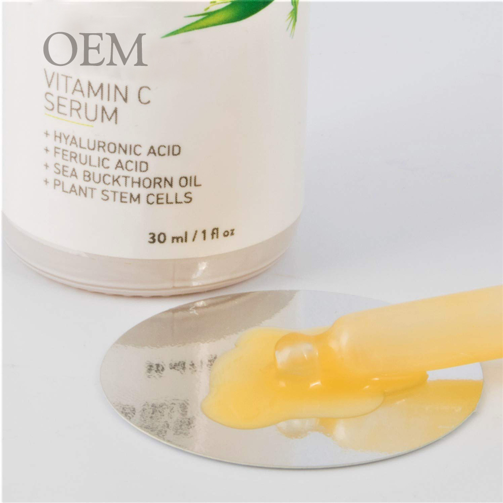 OEM ODM Natural Natural Vitamin C Serum Hyaluronic Acid ผลไม้ Oil Moisturizing Whitening Anti-aging Repair สำหรับความงามแต่งหน้า