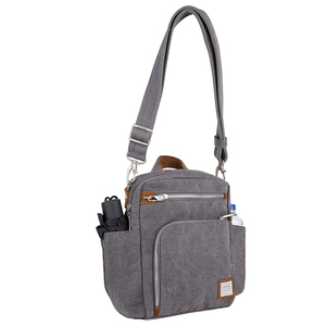 Anti-Theft Heritage Canvas Tour Bag Shoulder Chest Pack