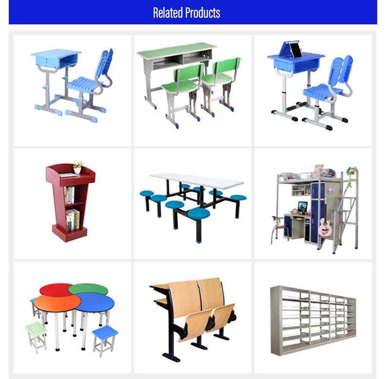 Aula de la escuela estudiante escritorio con silla de mesa de estudio muebles de la escuela
