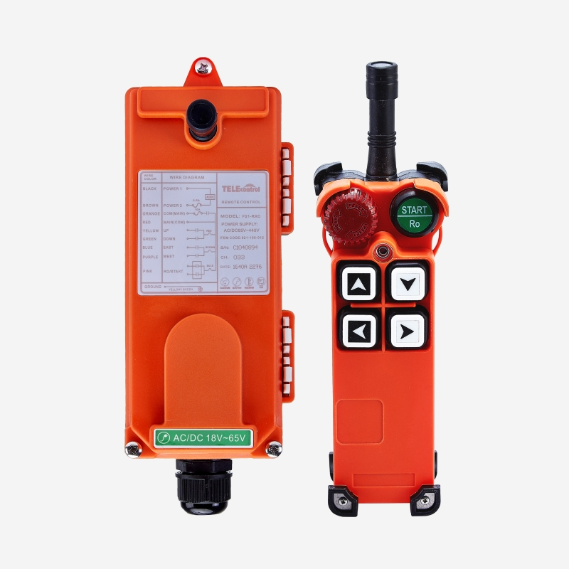 Leading Manfacuturer Supplier Uting F21-4S 1 Pemancar + 1 Receiver 4 Tombol 1 Langkah Hoist Crane Radio Nirkabel Industri Remote