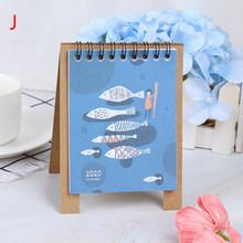 Ручной рисунок 2020 свежий мультфильм Мини Фламинго настольная бумага календарь двойной ежедневный планировщик стол планировщик годовой Ор...(Китай)