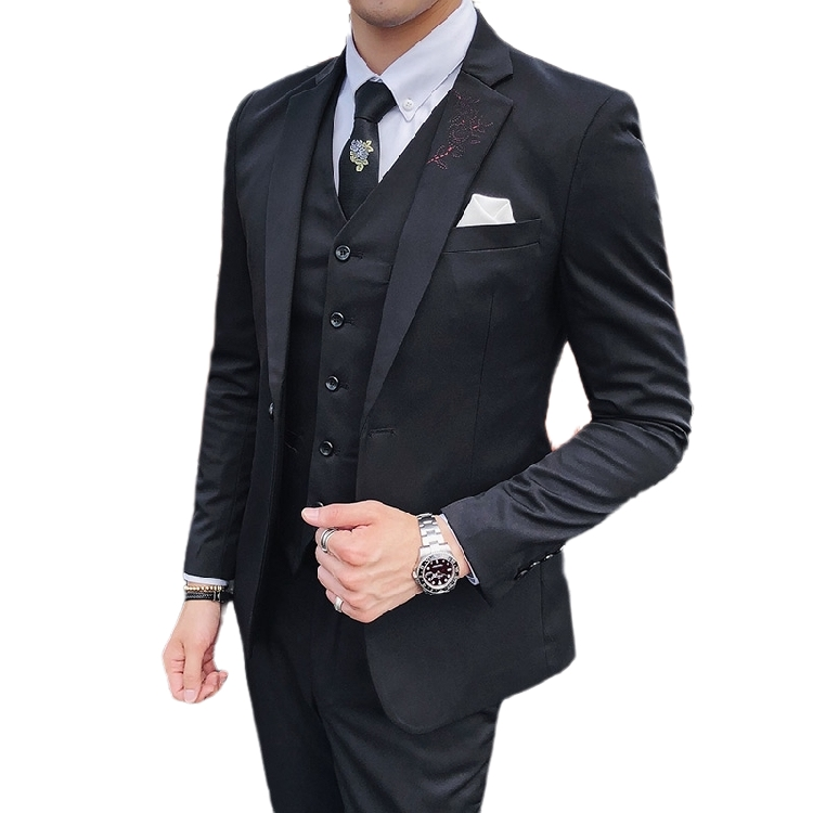 Jacket + Vest + pants 2020 new men's fashion boutique wedding dress set three piece men's <strong>formal</strong> business leisure <strong>suit</strong>