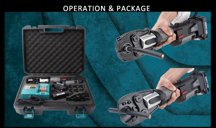 PZ-300C  hydraulic battery power cordless cable cutter and crimping tool