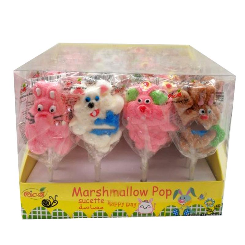 Halal fish gelatin marshmallow candy lollipop, halal fish gelatin marshmallow pop candy