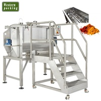 Powder mixing and filling machine