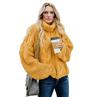 Stylish pullover top sale ladies knitted Handmade turtle neck sweater