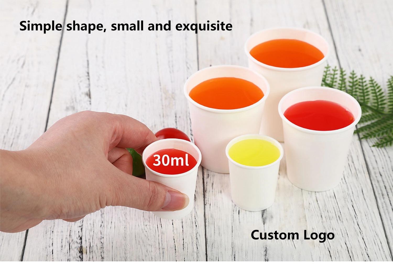 ถ้วยกระดาษ8ออนซ์กาแฟผนังย่อยสลายได้Plaเป็นมิตรกับสิ่งแวดล้อมกระดาษถ้วยกาแฟถ้วยกระดาษทิ้ง