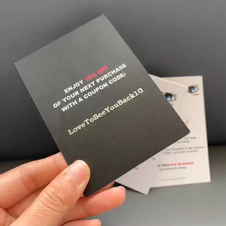 Presente Personalizado de alta qualidade cartão Obrigado Cartão Cartão de convite de papel Colorido de papel Personalizado com Seu logotipo