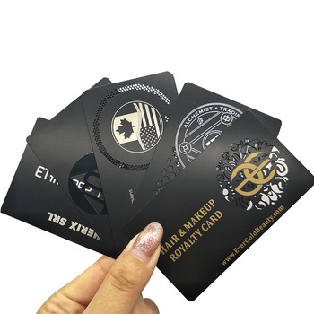 Hot!! Cheap 304 stainless steel Credit Card Size VIP Member RFID Black Metal Business Card
