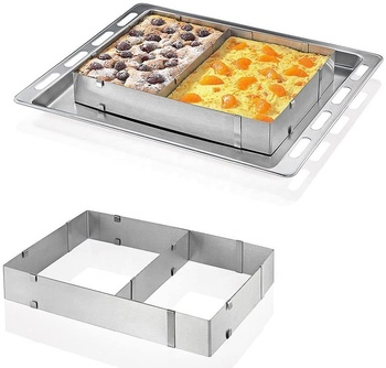 Stainless Steel Adjustable Rectangle Mousse Cake Mould Baking Mold Frame