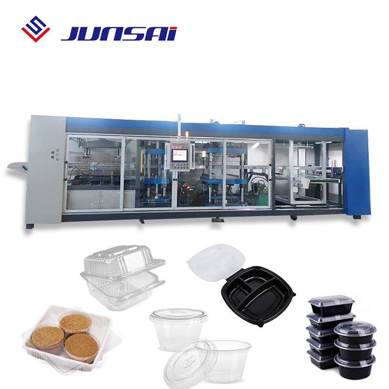 4 säule pp pet eps klar transparent tasse semi automatische thermo blister vakuum forming maschine tablett thermo forming platte