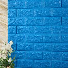 3D кирпичные настенные наклейки для гостиной, водонепроницаемая пена, для спальни, сделай сам, самоклеющиеся обои, арт 60*30*0,8 см, настенные нак...(Китай)