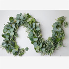 Wedding Leaves Decorative Eucalyptus New Fashion Wedding Decoration Artificial Apple Leaves Eucalyptus Garland